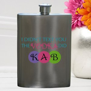 Texting Vodka Party Girl Flask image