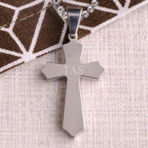 Classic Cross Personalized Necklace image