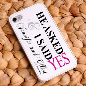 Personalized He Asked iPhone Case image