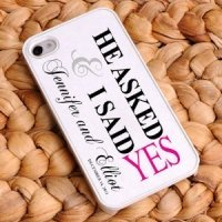 Personalized He Asked iPhone Case