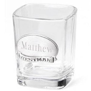 Wedding Party Shot Glasses with Engraved Medallion image