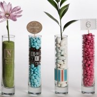 Custom Monogram Bud Vase Favors