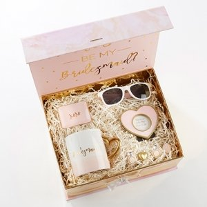 Pink and Gold Will You Be My Bridesmaid Kit image