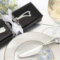 Chrome Cheese Spreader with Heart-Shaped Handle