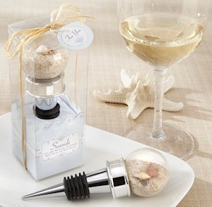 Seaside Sand and Shell Filled Globe Bottle Stopper image