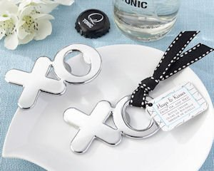 Hugs & Kisses from Mr. & Mrs. Wedding Bottle Openers image