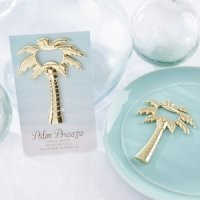 Palm Breeze Gold Bottle Opener Favor