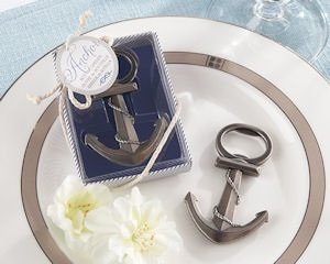 Anchor Nautical Theme Wedding Favor Bottle Openers image
