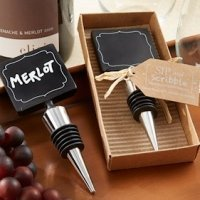 Wine Bottle Stopper with Chalkboard Top