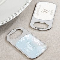 Personalized Ethereal Silver Bottle Opener Favors