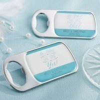 Personalized 'He Asked She Said Yes' Bottle Opener