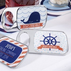 Personalized Nautical Birthday Bottle Openers image