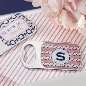 Personalized Nautical Bridal Shower Bottle Openers image