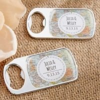 Personalized Travel and Adventure Silver Bottle Opener