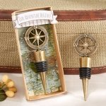 'Our Adventure Begins' Compass Design Bottle Stopper