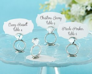 Diamond Ring Place Card or Photo Holders (Set of 6) image