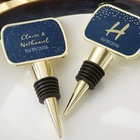 Personalized Under the Stars Gold Bottle Stopper Favors
