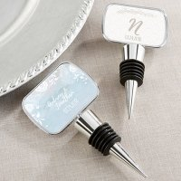 Personalized Ethereal Silver Bottle Stopper Favors