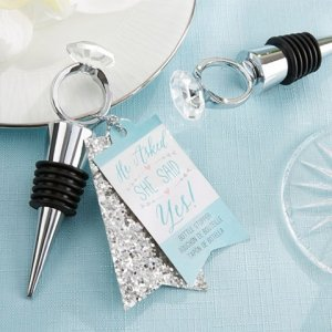 'He Asked She Said Yes' Engagement Ring Bottle Stopper image