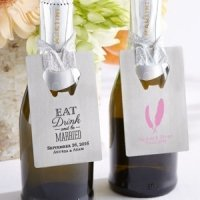 Personalized Silver Wedding Credit Card Bottle Opener
