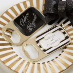 Personalized Classic Design Gold Bottle Opener Favors