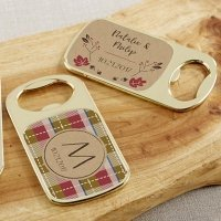 Personalized Fall Design Gold Bottle Opener Favors