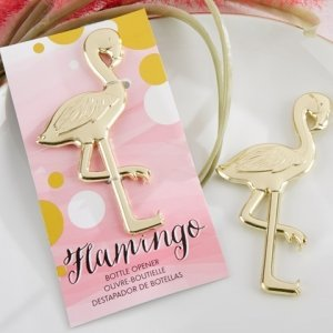 Fancy and Feathered Flamingo Bottle Opener image