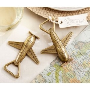 Let the Adventure Begin Airplane Bottle Opener image