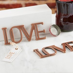 Copper LOVE Bottle Opener Favor image