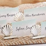 Silver Seashell Place Card Holders (Set of 6)