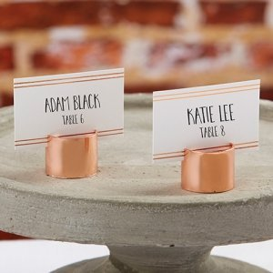 Copper Pipe Place Card Holder (Set of 6) image