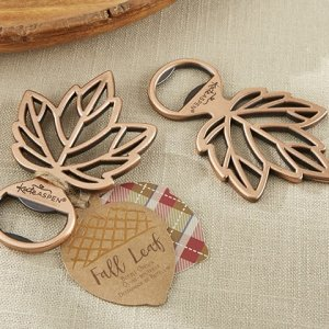 Copper Leaf Bottle Opener Favors image