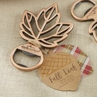 Copper Leaf Bottle Opener Favors
