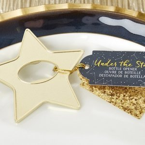 Gold Star Bottle Opener Favor image