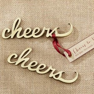Cheers Antique Gold Bottle Opener image