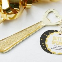 Glittering Heart Party Time Bottle Opener Favors