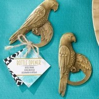 Antique Gold Parrot Bottle Opener Favors
