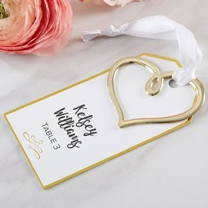 Gold Heart Escort Card (Set of 12) image