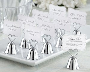 Kissing Bells Wedding Place Card Holders (Set of 24) image