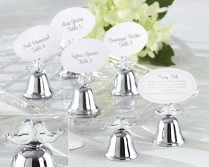 Lovebirds Wedding Bell Place Card Holders (Set of 24) image