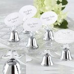 Lovebirds Wedding Bell Place Card Holders (Set of 24)