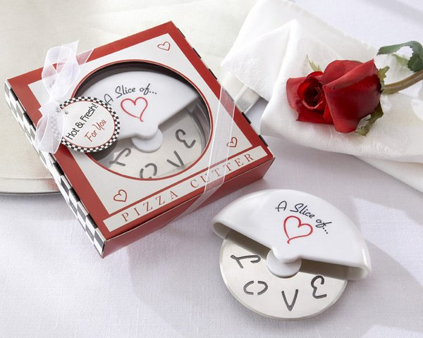 Slice Of Love Pizza Cutter Wedding Favors