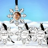 Snowflake Ornament Place Card Holder (Set of 4)