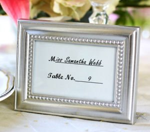 Beautifully Beaded Photo Frame and Place Card Holder image