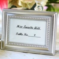 Beautifully Beaded Photo Frame and Place Card Holder