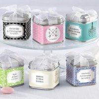 Personalized Wedding Favor Tins (Set of 12)