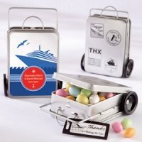 Personalized Mini Suitcase Favor Tins (Set of 12)