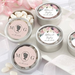 Personalized English Garden Candy Tin Favors (Set of 12) image