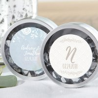 Personalized Silver Round Ethereal Candy Tins (Set of 12)