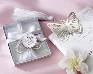 Silver Butterfly Bookmark with Tassel image